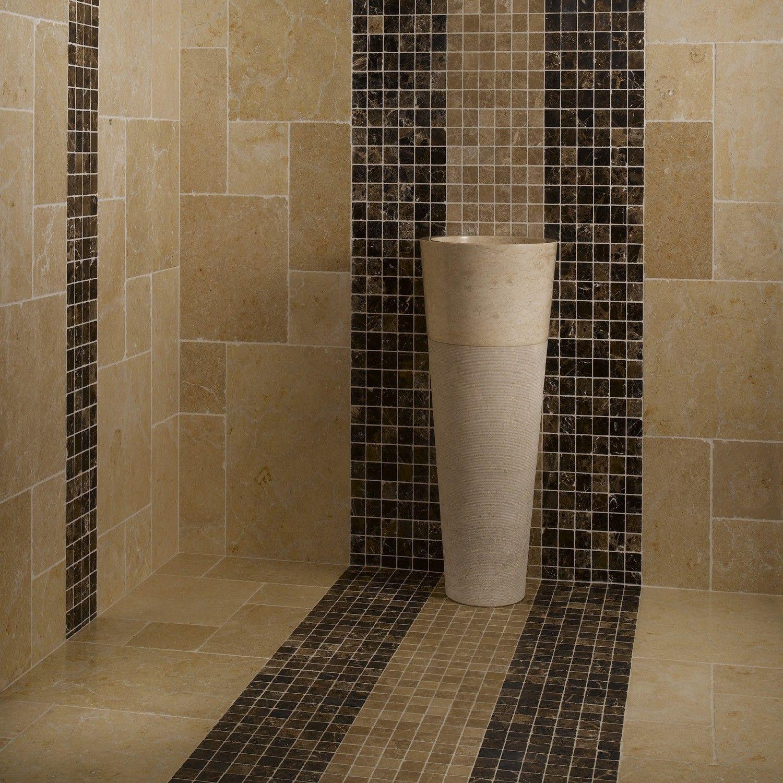 Mosaique Carrelage Marbre Emparador Foncé - Mosaïque marbre ...