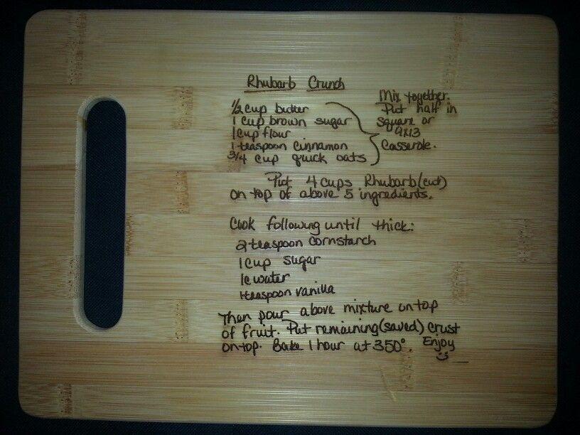 Custom cutting board for Melissa