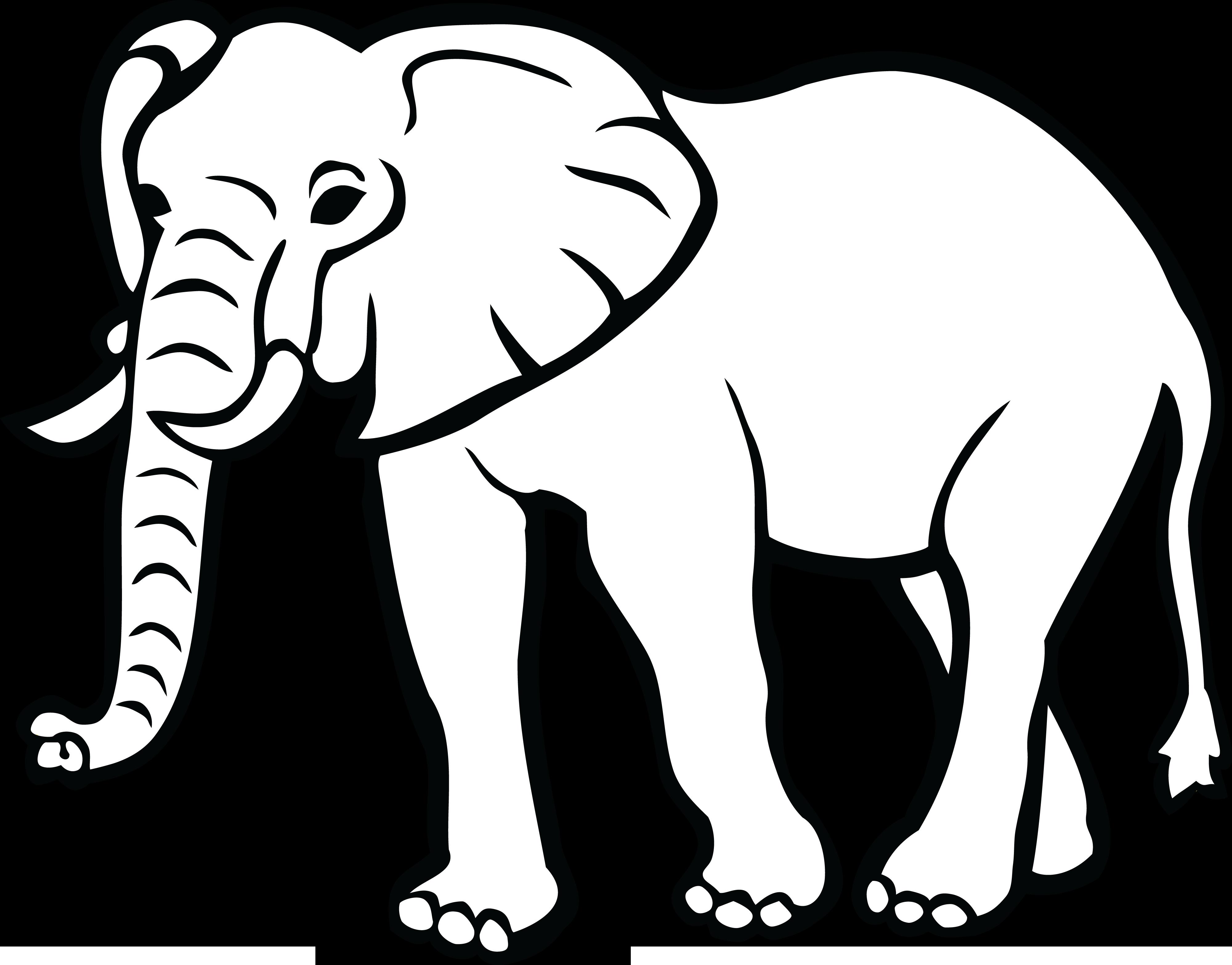Png Black And White Elephant Elefanten Umriss Elefant Zeichnung Elefanten Silhouette