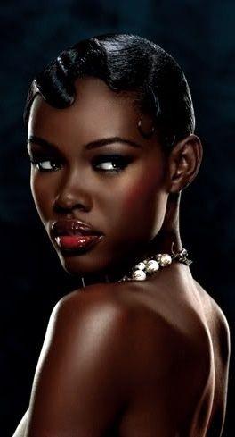 beautiful Beauté de la peau sombre, Beauté africaine et