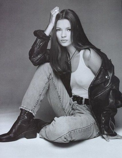 Kate Moss photographed by Herb Ritts for Calvin Klein Campaign 1992