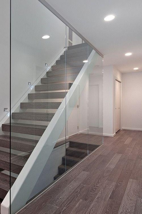 Glass Stair Railings Interior: Walls, Stair Handrail