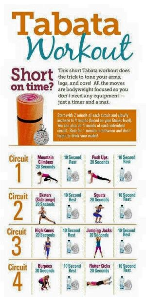 Quick tabata workout to remember.