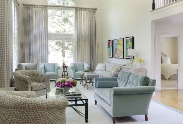 Two seating areas make this elongated living room with for Living room with 2 seating areas