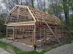 Build a modified post and beam frame barn house and for How to build a pole shed step by step