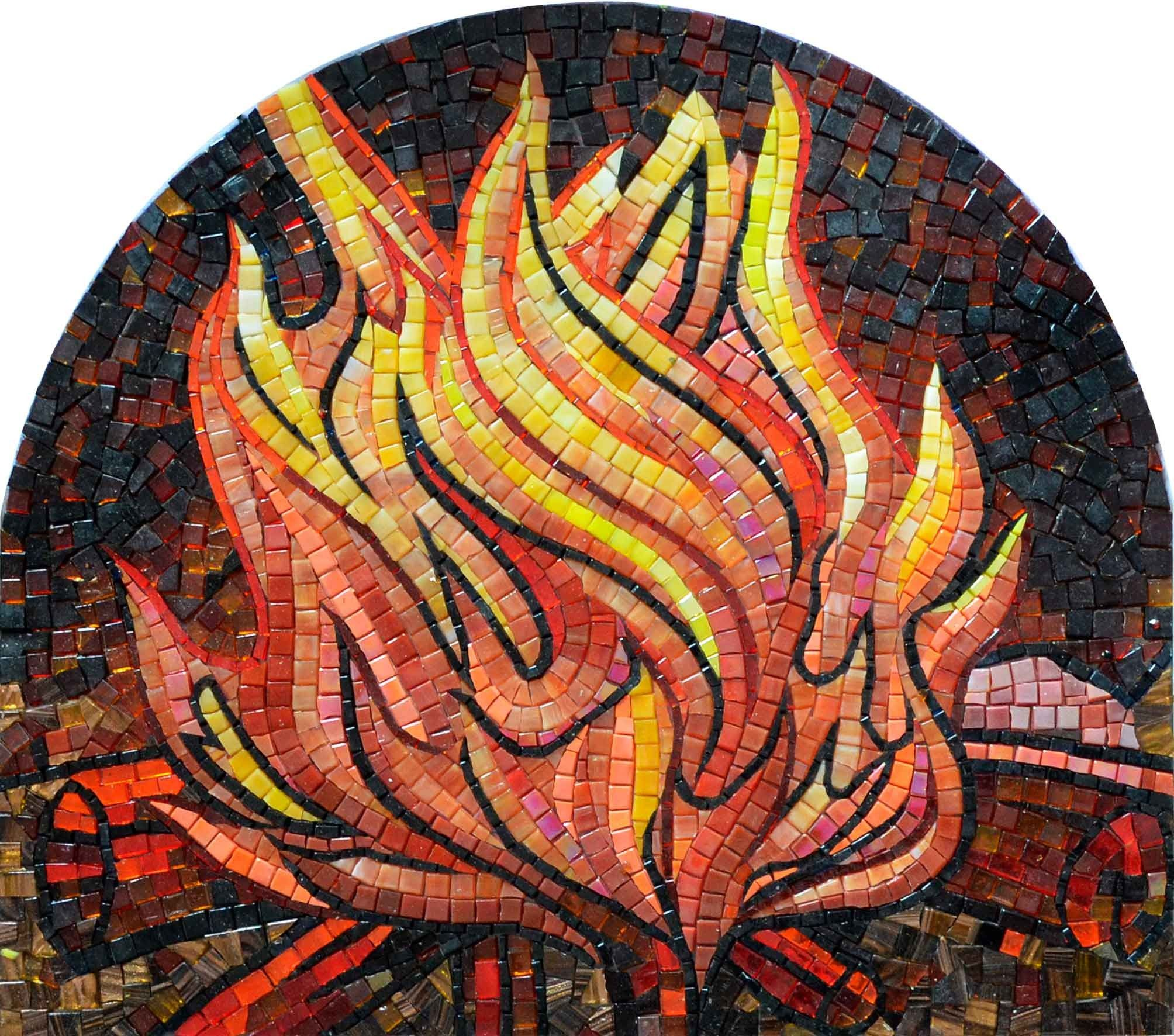 Sold custom made butterfly mosaic table top for mary ann in texas - Mosaic Patterns Fire Flame