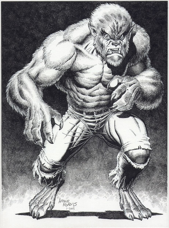 Wolfman or Werewolf By Night by Arthur Adams | beast//bestias ...