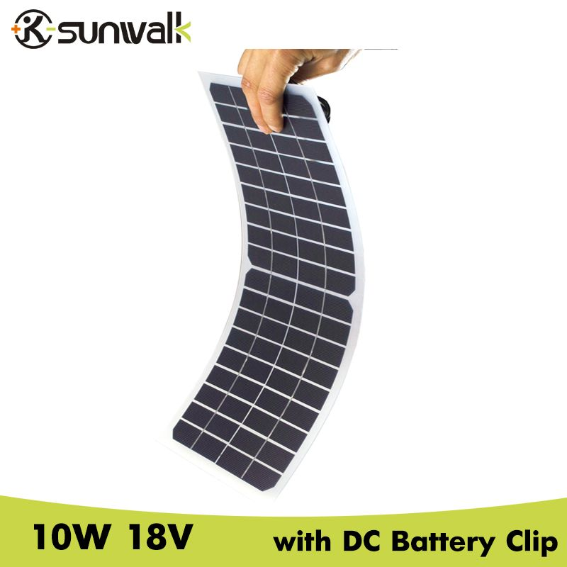 Sunwalk Semi Flexible 10w 18v Transparent Solar Cell Panel With Dc Crocodile Clip Car Click Visit To Buy From Aliexpress With Images Solar Car Charger Car Solar Cell