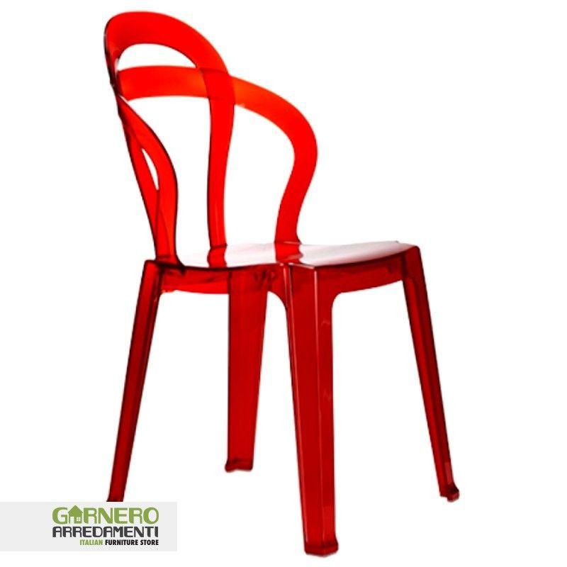 sedia trasparente Titì policarbonato Sedia trasparente Titì ideale ...