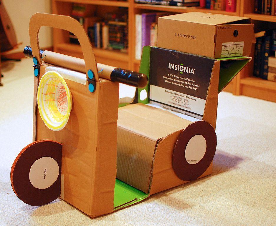 moto de cart n juguetes de cart n que puedes hacer tu mismo. Black Bedroom Furniture Sets. Home Design Ideas