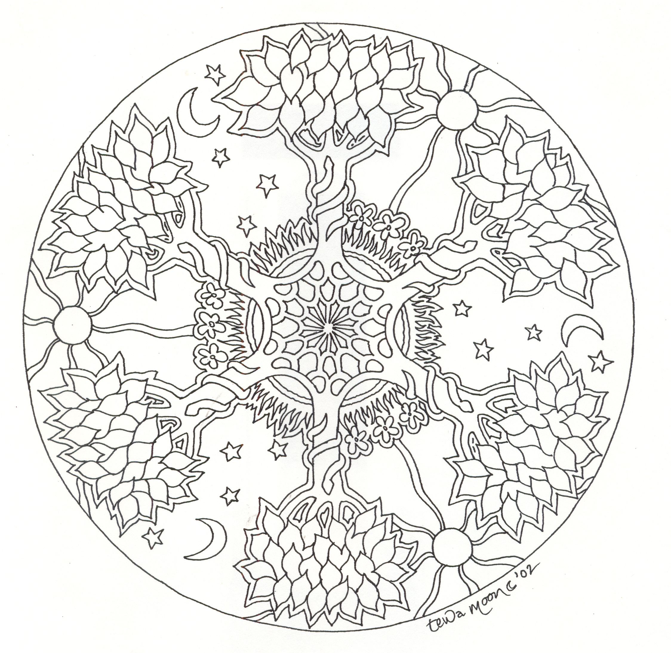 This is a photo of Wild Printable Mandala Coloring Pages for Adults