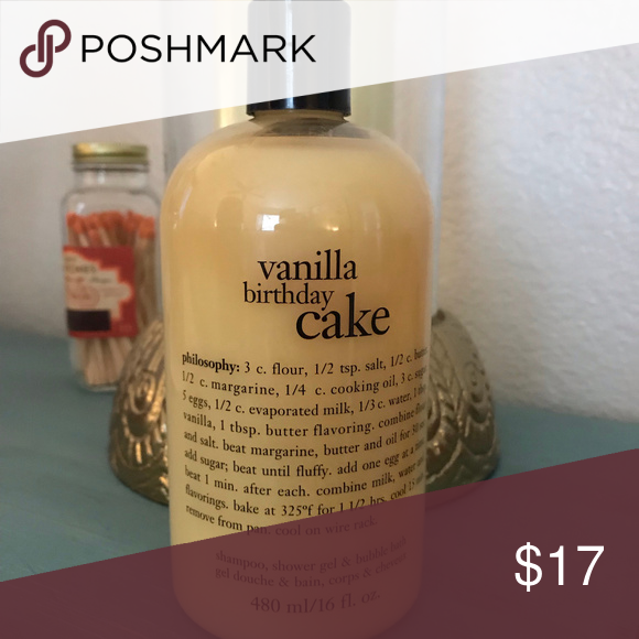 Philosophy Vanilla Birthday Cake Shower Gel New Sealed Bottle The Unbelievable Scent Of A Freshly Baked Has Been Captured In Famous 3 1