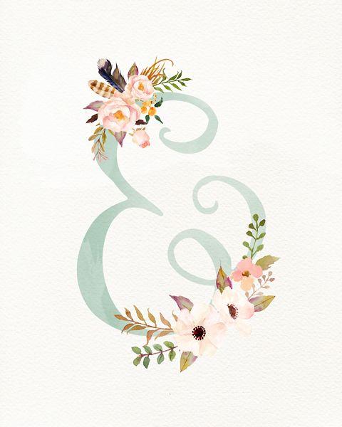Floral Ampersand Baby room