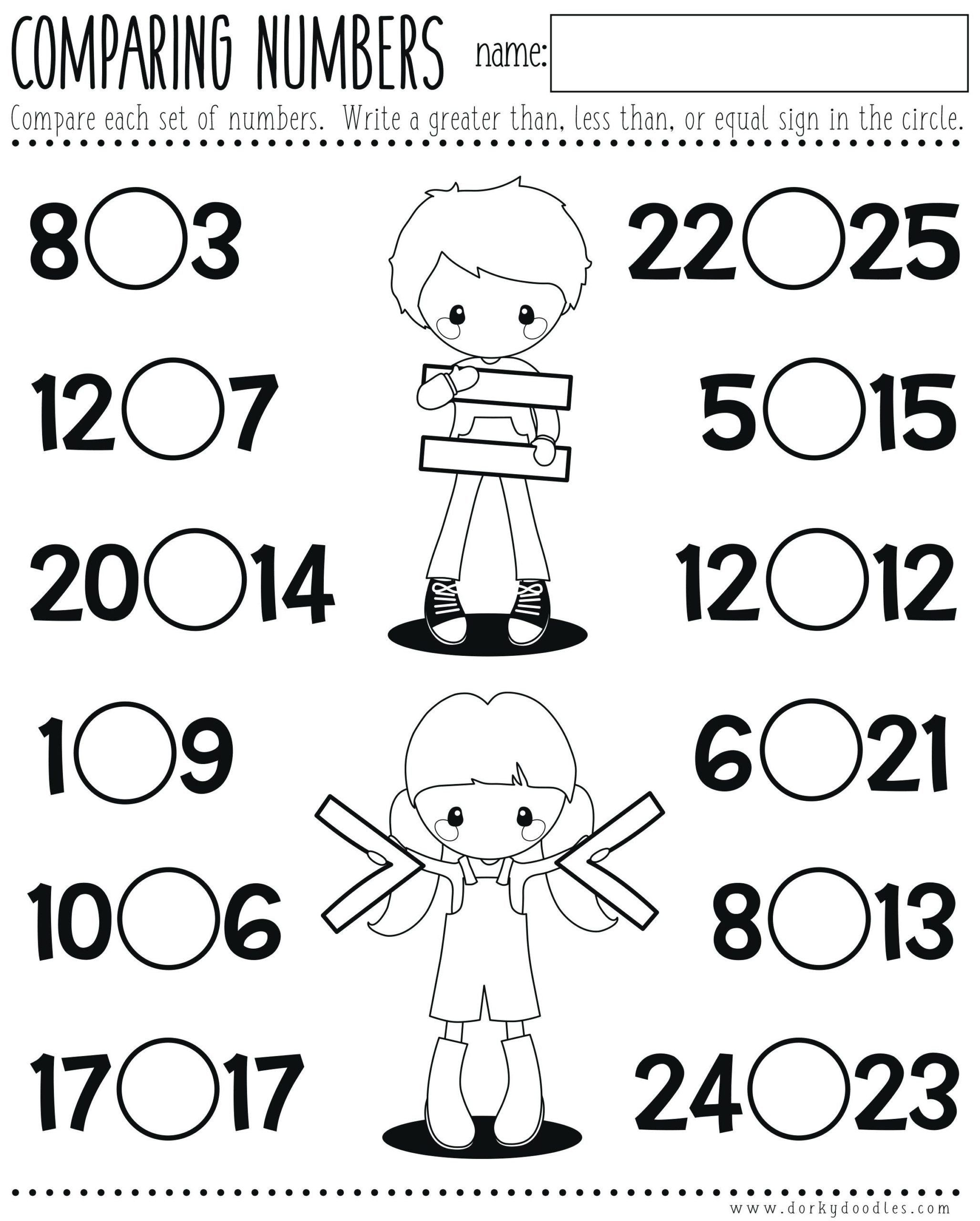 Word Problems For Kindergarten Worksheets Less Than