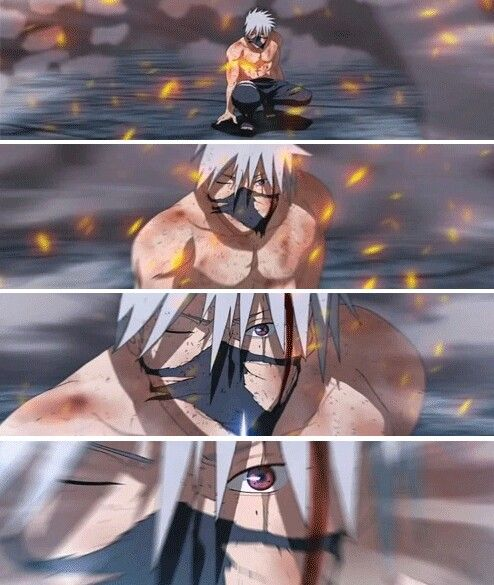 Kakashi...Still has his mask on!!!...WTF!!!