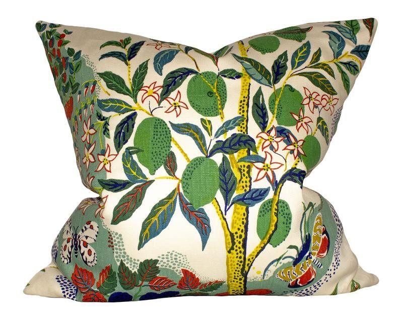 Schumacher Citrus Garden Pillow Cover Etsy In 2020 Etsy Pillow Covers Garden Pillows Pillow Covers