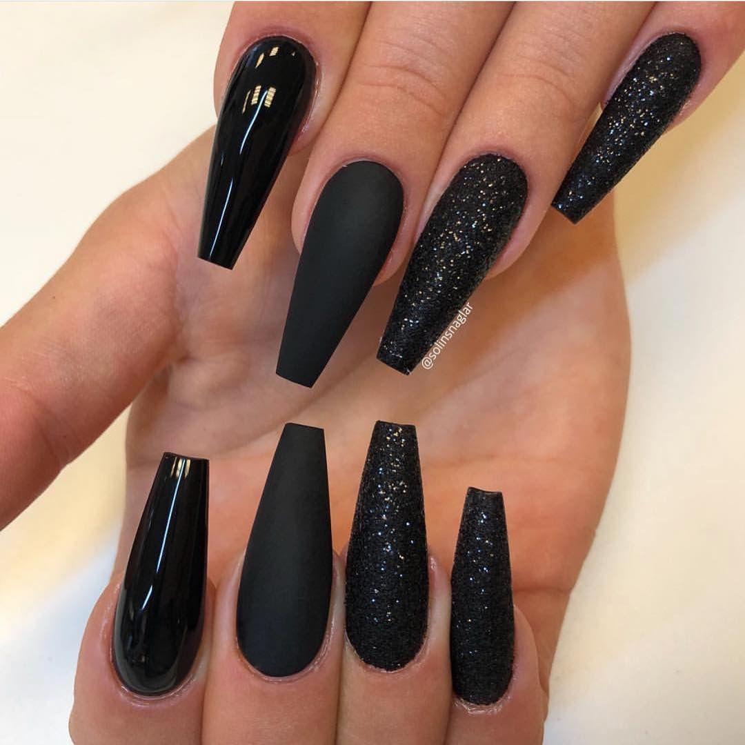 Pinterest Lexualsun Long Black Nails Black Acrylic Nails Gorgeous Nails