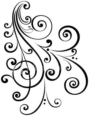 a fancy vectorized ornate scroll design with ungrouped scrolls saved