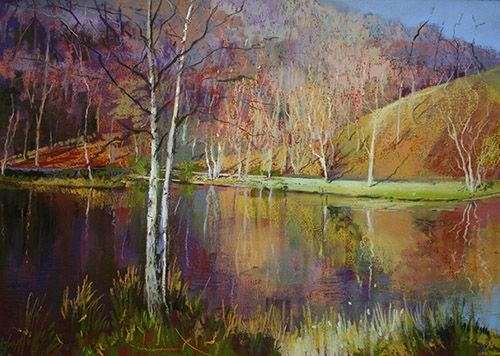 Margaret Evans Soft Pastel Pastel Landscape Landscape Paintings Soft Pastel Art