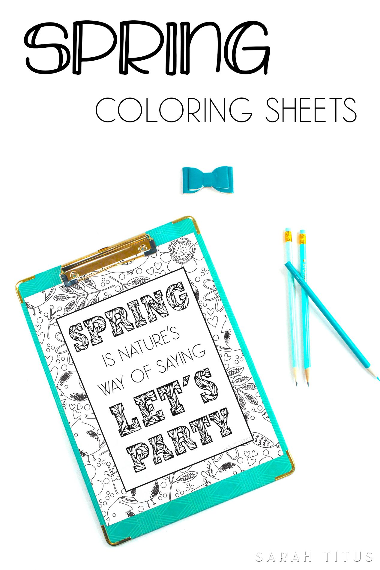 Spring Coloring Sheets | Frugal and Money Saving Group Board ...