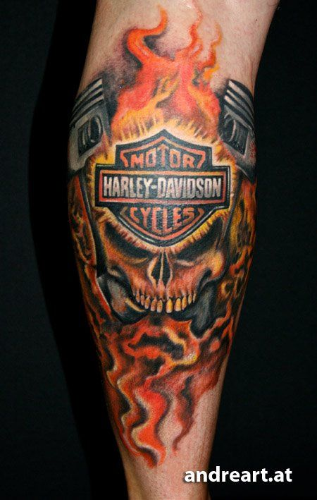 harley davidson tattoos | Harley Davidson Motor Cycle ... - photo#43