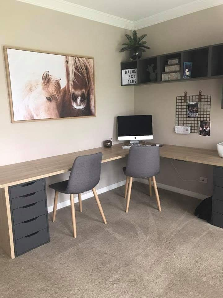 Photo of Desk with small drawer side.,  #Desk #Drawer #ikealivingroomideasdiy #Side #Small