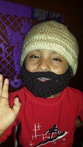 goŕro con barba | mis amigurumi | Pinterest | Gorro con barba