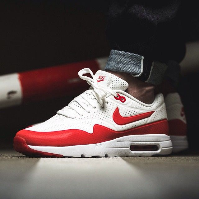 new styles united kingdom best prices Nike Air Max 1 Ultra Moire (weiß / rot) - 43einhalb Sneaker ...