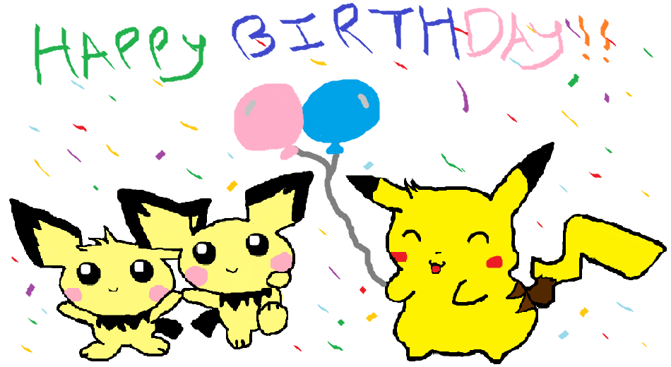 Free Printable Pokemon Birthday Cards