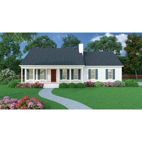 The House Designers THD 5458 Builder Ready Blueprints to Build a Small Ranch House Plan with Crawl Space Foundation 5 Printed Sets