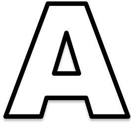 Lettres de l 39 alphabet en contour alphabet pinterest alphabet maternelle lettres alphabet - Lettre de l alphabet en majuscule a imprimer ...