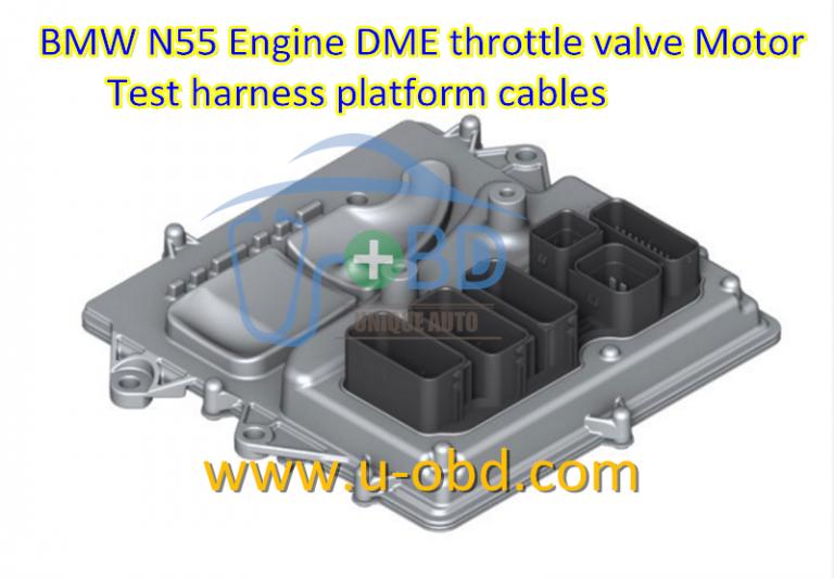 BMW N20 N55 Engine DME Valvetronic motor test harness platform