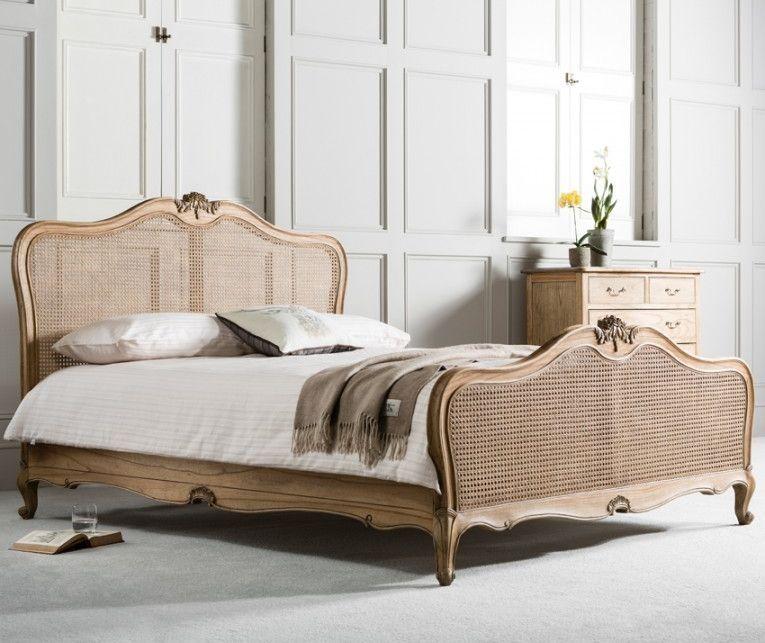 Frank Hudson Chic Weathered Cane Bed 5ft Bed Hudson Furniture
