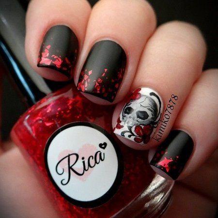 sugar skull nails - Google Search - Sugar Skull Nails - Google Search Fall & Halloween Nails