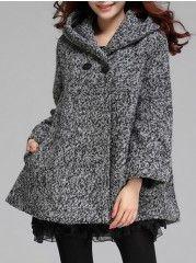 Elegant Hooded Overcoats