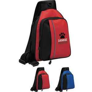 Great price on this sling backpack, $8.19 when you order in bulk! Perfect for logos