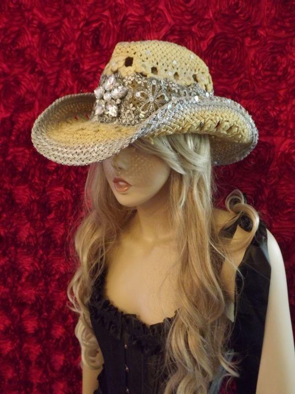 "Halo of glistening Rhinestones Cowgirl Hat!! ""Ladies you will ... 51a6da81ee3"