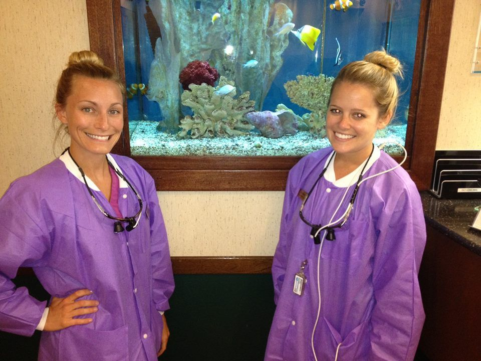Our wonderful dental hygienists, Christa and Erin D