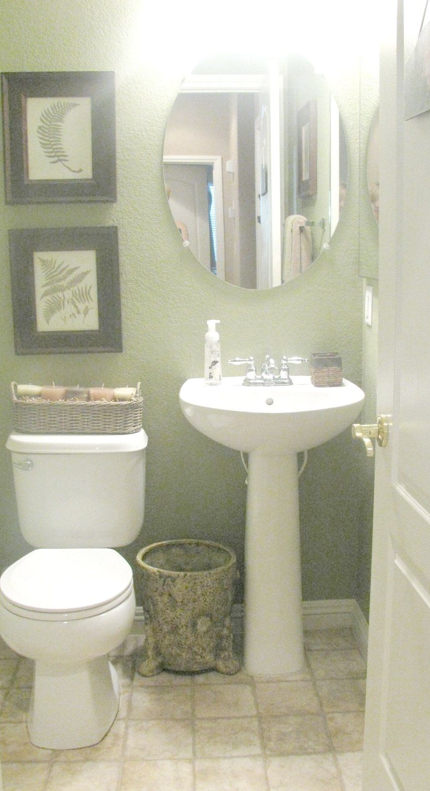 Small Bathroom With Pedestal Sink Ideas Mirror Above White Ceramic And Light