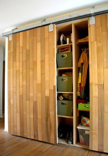 Barn Door Hardware for Closets | Decor ideas | Diy closet doors