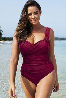 12cfab8591e6f Plus Size - Tropiculture Amarena Crossover Swimsuit  PlusSizeSwimwear