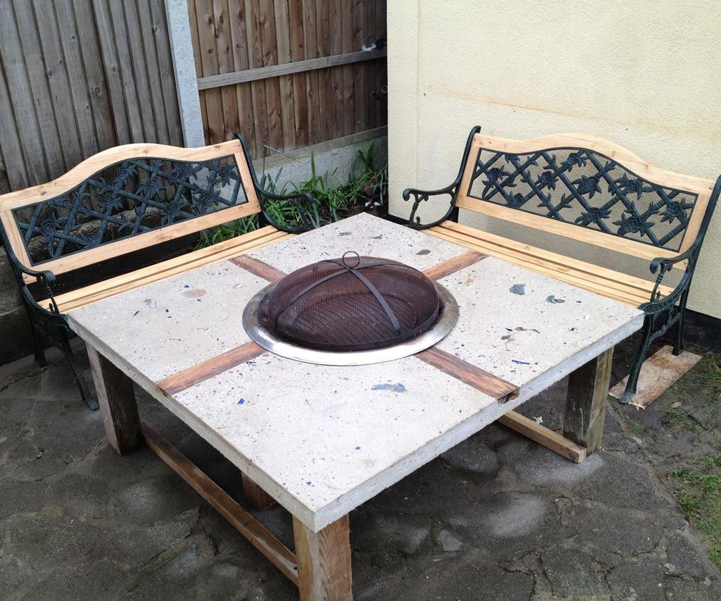 wood burning fire pit table and chairs fire pit pinterest