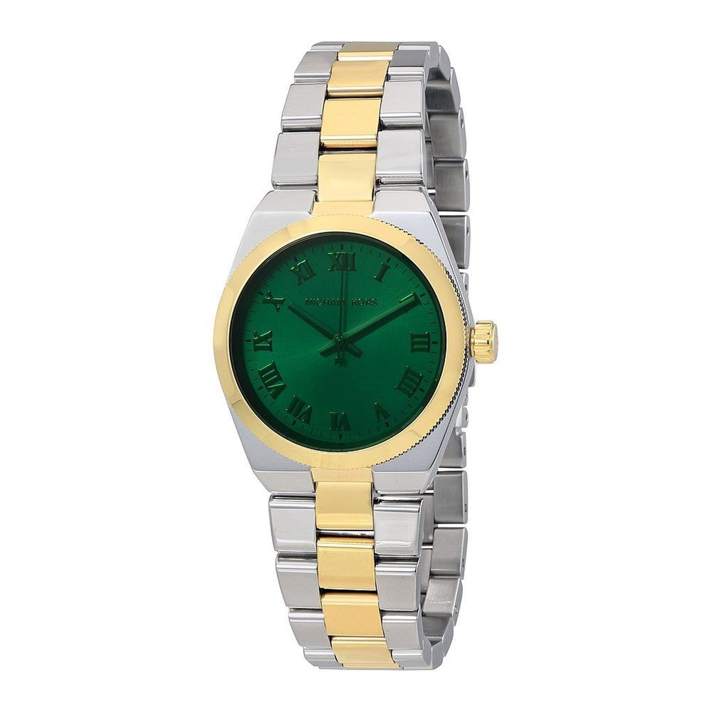 e41f62bc1cd9 ICYMI  Michael Kors Channing Green Dial Two-tone Unisex Watch MK5991 ...