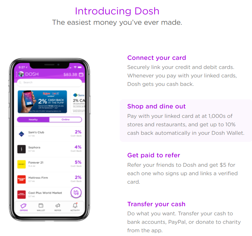 Get Cash Back with Dosh 365 Magical Days of Travel