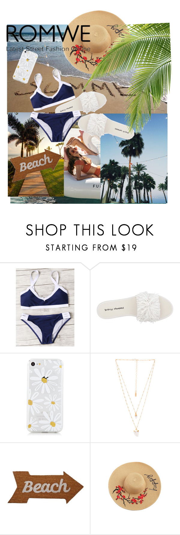 """Romwe summer"" by mamilburudiez ❤ liked on Polyvore featuring Dirty Laundry, Natalie B and Mud Pie"