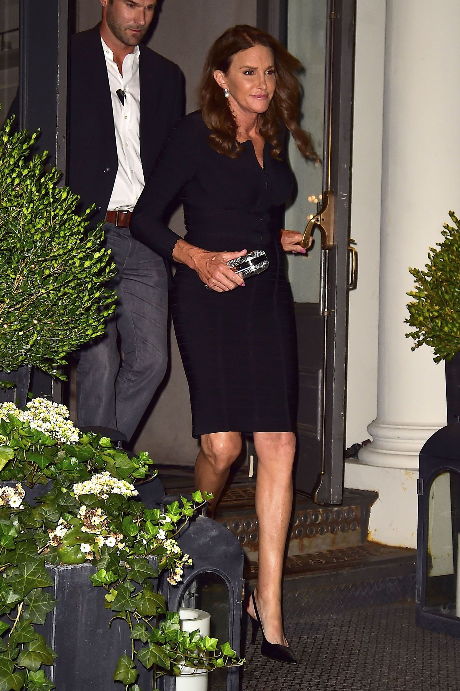 Caitlyn Jenner dazzles in a little black dress for a night out in New York.   - HarpersBAZAAR.com