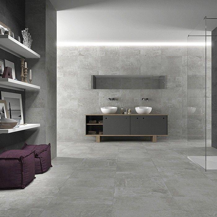Concrete Grey Floor Tiles Porcelain Superstore Kitchen