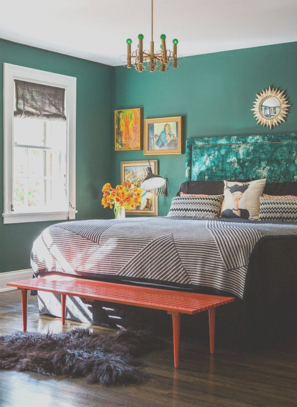 26 Awesome Green Bedroom Ideas Vert Chambre Idee Chambre Decoration Maison