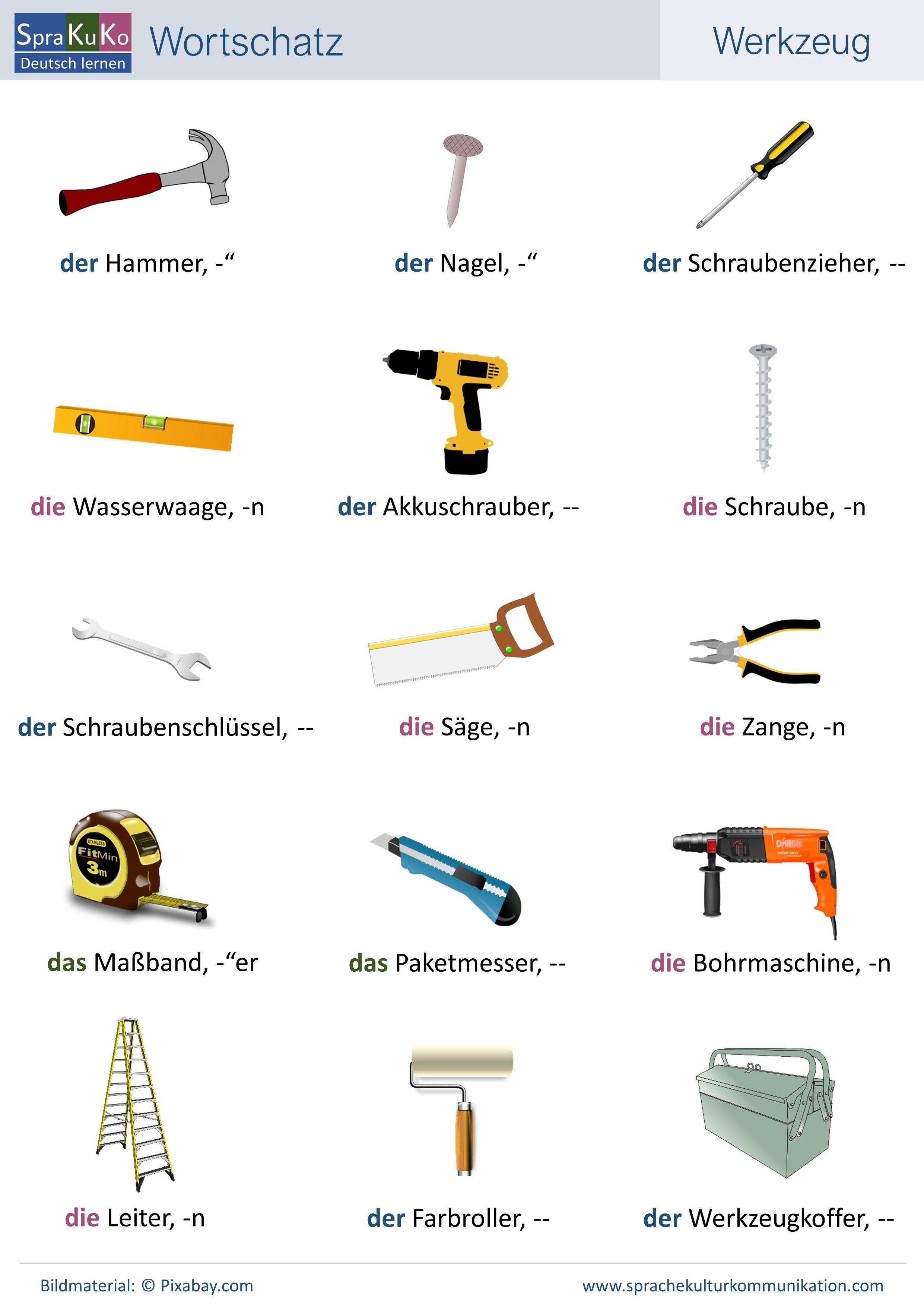 Wortschatz Deutsch als Fremdprache Deutsch lernen