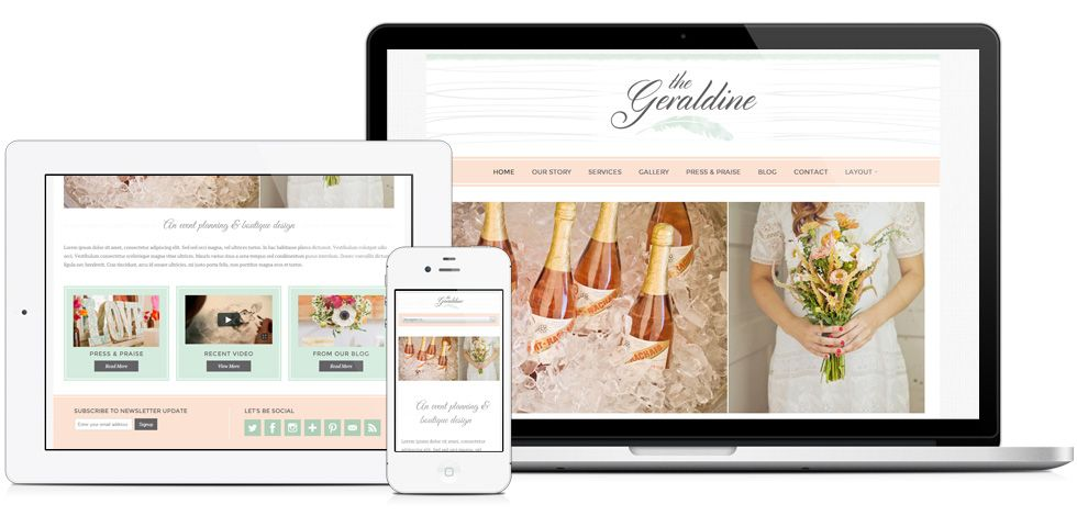 Geraldine Theme Coming soon The large and Wedding